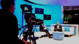 Engadget broadcasts a talk show set on the showroom floor at CES.