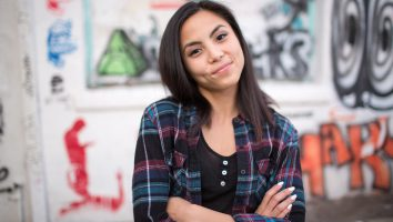 Anna Akana moved to Los Angeles to become an actress and is now most-known for her YouTube channel, which has more than 1 million subscribers. Friday, Oct. 23, 2015, in Los Angeles, California (Jim Seida / NBC News)
