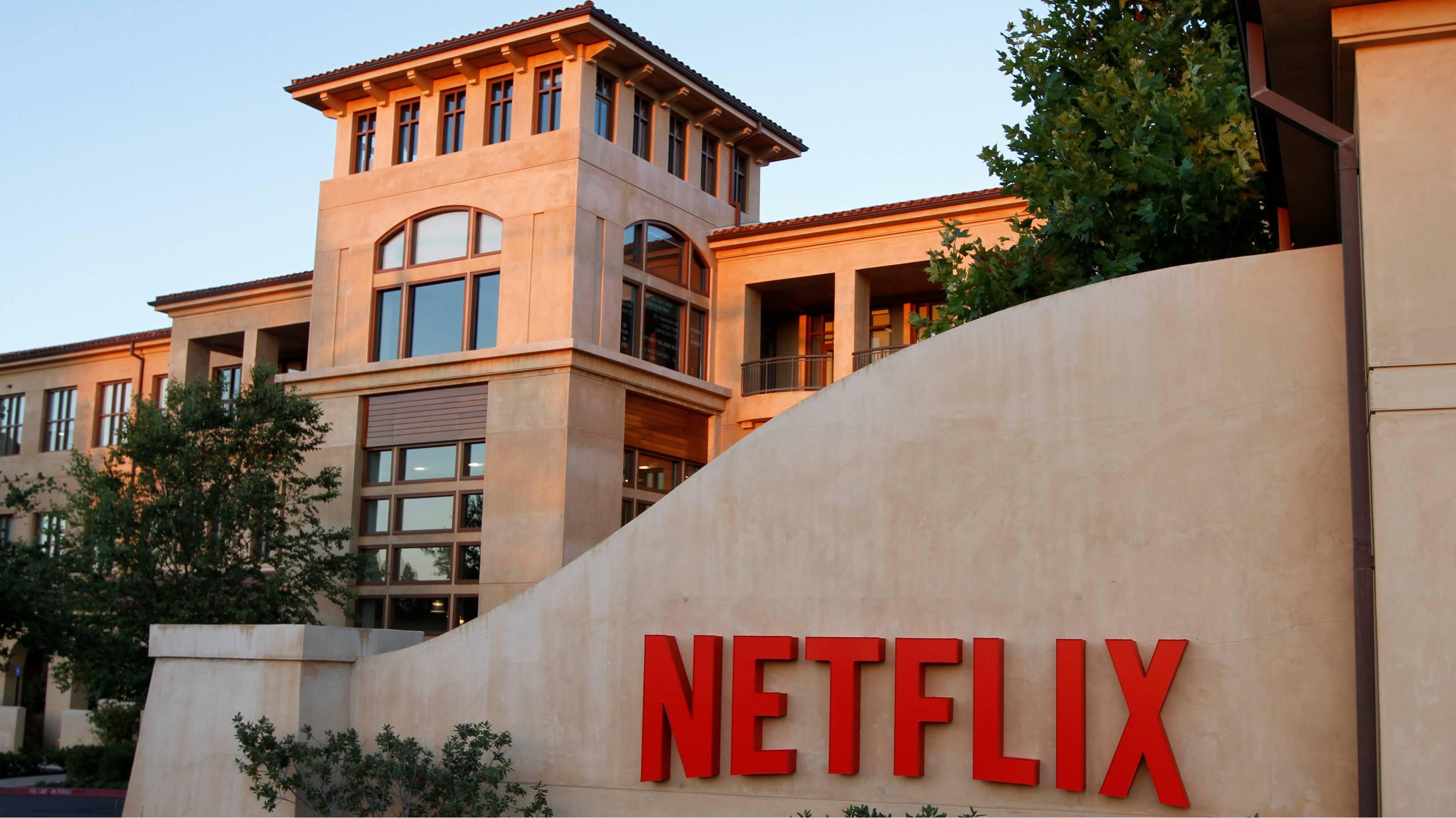Sede central de Netflix en Los Gatos, California, donde la innovación empresarial se centra en el streaming